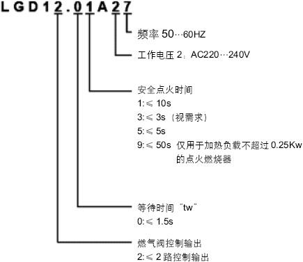 燃气燃烧控制器/程控器lgd12